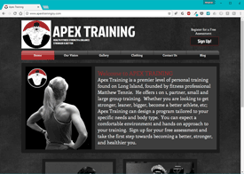 Apex Training Website Design