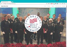 Dallas Police Choir Website Design