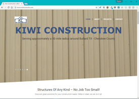 Kiwi Construction Website Design