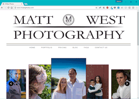 Matt West Photos Website Design
